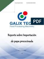 Importación de Papa Pre cocinada a Perú 2017