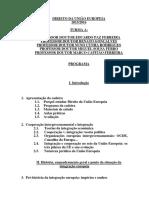 Programa LIC Direito Da Uniao Europeia TA 201516