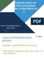 Psicologia Social - o Que é Psicologia Social