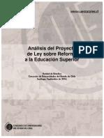 Análisis Reforma E.Sup_. Unidad de Estudios Cuech. Septiembre 2016.pdf