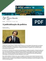 A Judicialização Da Política