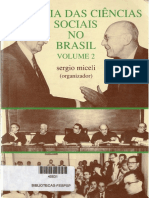 MICELI, Sergio - HIstoria Das Ciencias Sociais No Brasil II