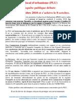 PLU Enquête Publique Septembre-2010