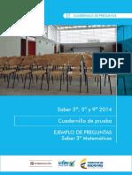 Ejemplos de Preguntas Saber 3 Matemáticas 2014 v2