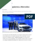 Los Chinos Quieren a Mercedes-Benz