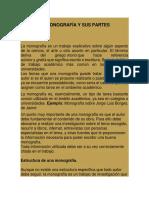 La Monografía y Sus Partes - 2017-1