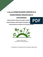 Programa Integral de Gestión Ambiental de La Escuela Peñuelas
