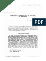 Linguistica Idiomatica y Español en America