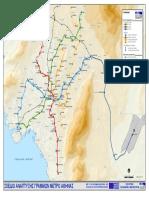 Χάρτης Αττικό Μετρό Φεβρουάριος 2018