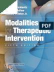 Modalities for Therapeutic Intervention 5th Edition - Susan L. Michlovitz - 2011 - 0803623917