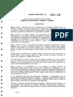 Acuerdo Ministerial 029 Norma Tecnica