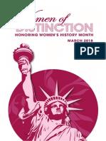 2018 Historical Women of Distinction