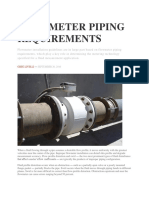 Flowmeter Piping Requirements