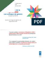 «Aceleración de la Agenda 2030  con enfoque de género» por George Gray Molina