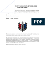 Solución Sencilla Del Cubo de Rubik