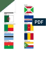 Paises de Africa, Capitales y Banderas