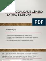 Multimodalidade, Gênero Textual e Leitura