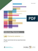Origen provincial de las exportaciones