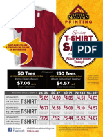 LMP - 2018 T-Shirt Sale Flyer