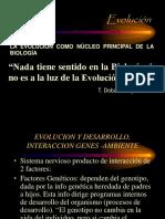 Evolucion y Desarrollo. Interaccion Genes Ambiente
