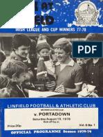 Linfield v Portadown 19.08.78