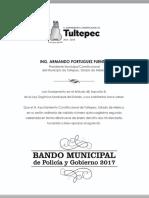 Bando Municipal Tultepec 2017