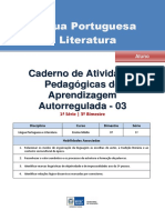Lingua Portuguesa Regular Aluno Autoregulada 1s 3b