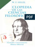 Hegel, G. W. F., Enciclopedia de las ciencias filosoficas. Compedio, ed. Valls Plana.pdf