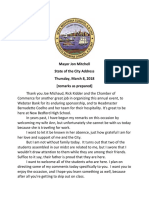 New Bedford Mayor Jon Mitchell's 2018 State of the City Address