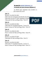 M06V32 - Cronograma de Estudos Da Sexta Semana