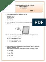 Prueba Diagnóstica Matemática 4º Básico
