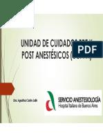 Clase 5. Unidad de Cuidados Pre y Post Anestésicos ( (1)