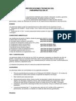 Especificaciones Tecnicas Del Pararrayo