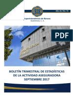 03 Boletín Trimestral de Estadísticas a Septiembre 2017