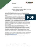 23/11/17 SONORA SEDE DEL PRIMER CONGRESO INTERNACIONAL DE EDUCACIÓN FÍSICA Y DEPORTE ESCOLAR. - C.1117107