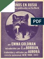 Goldman, Emma - Dos Años en Rusia [Anarquismo en PDF]