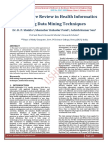 A Literature Review in Health Informatics