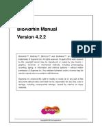 BioAdmin Manual V4 2 2 English