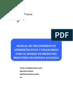 Manual de Procedimientos Administrativos y Financieros Para El Manejo de Bienes Del MDN 2017