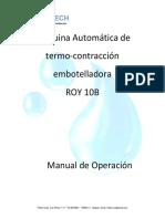 Manual de Usuario de Máquina de Empaque y Contracción Automatica