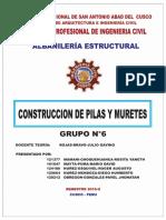 Construcion de Pilas y Muteres