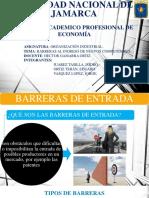 Barreras Al Ingreso de Nuevos Competidores.