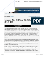 Kill Your Sin
