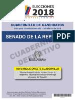 Cuadernillo Candidatos Senado