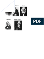 Augusto Comte Emile Durkheim Karl Marx Max Weber