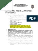 Nº 1 Pasos Para Iniciar Prac Prof