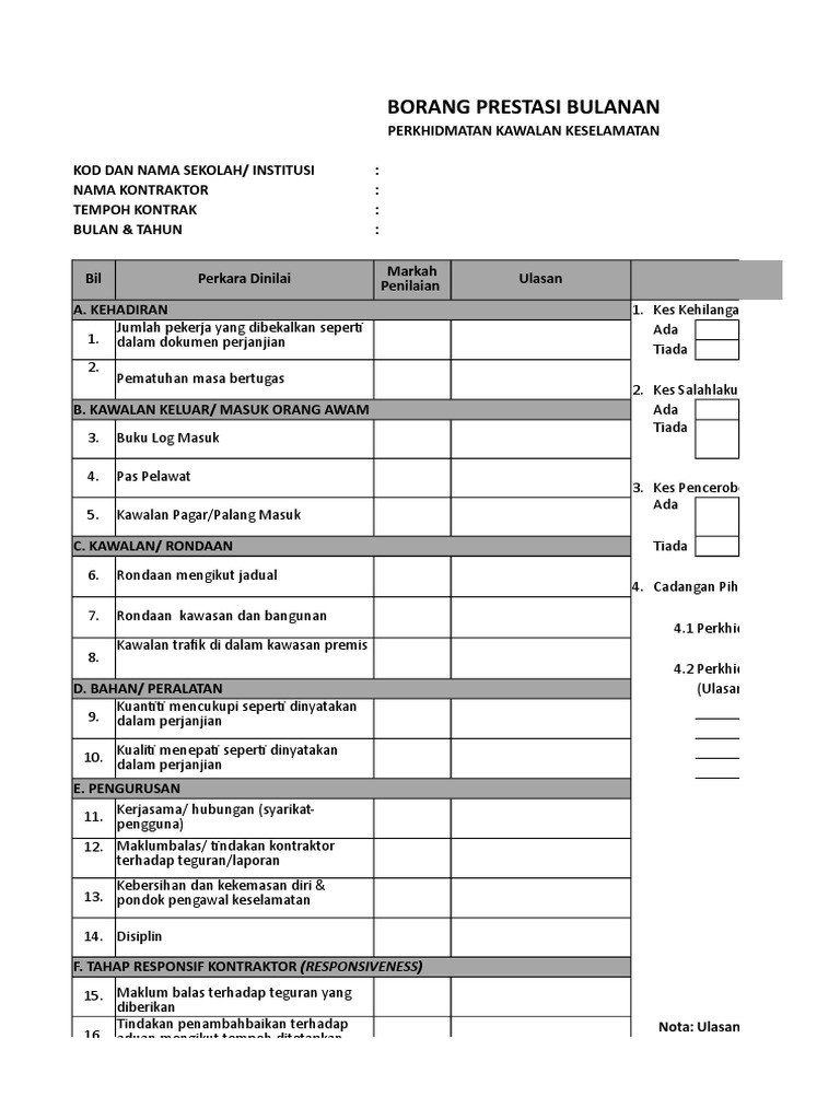 Lampiran 1 2 Borang Penilaian Prestasi Kontraktor Kbk Pkk Bmb Update 3