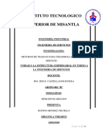 Rufino Mendez Trujillo --Unidad 1 La Estructura Empresarial en Torno a La Ingenieria Del Servicio