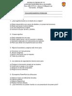 Prueba Diagnóstico Tecnologia 5Basico