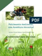 Cartilla Patrimonio Ambiental, Una Aventura Ancestral-Biviana Olivero-Daniel Parra